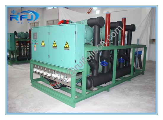 Air Cooled Three Screw Compressor Rack High Temperature Condensing Unit for Blast Freezer