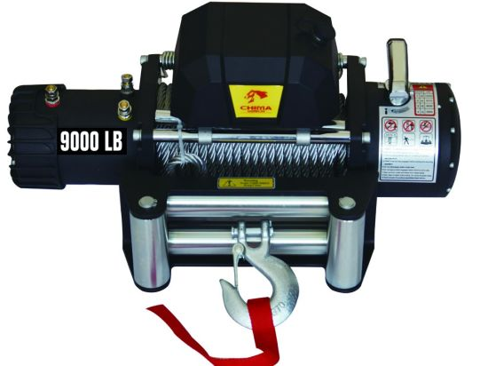 High Speed Vehicle Recovery Winches 9000lbs 12V DC Black