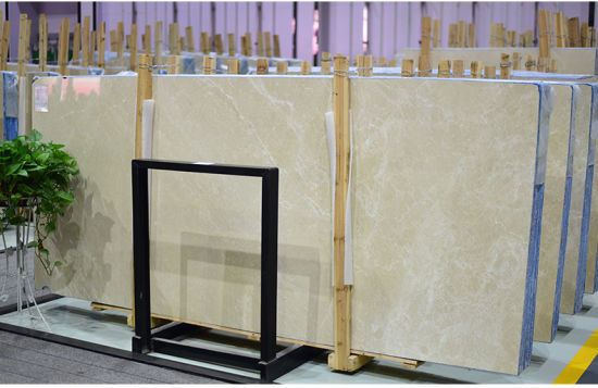 China Factory 1.6mm 1.8mm Thick Polished Beige Burdur Aran White Beige Marble Slabs/New Cream Marfil Marble Slab for Hotel Flooring Tile/Wall pictures & photos