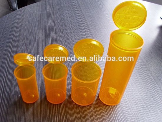 13dr Pop Top Squeeze Container for Medicine Use