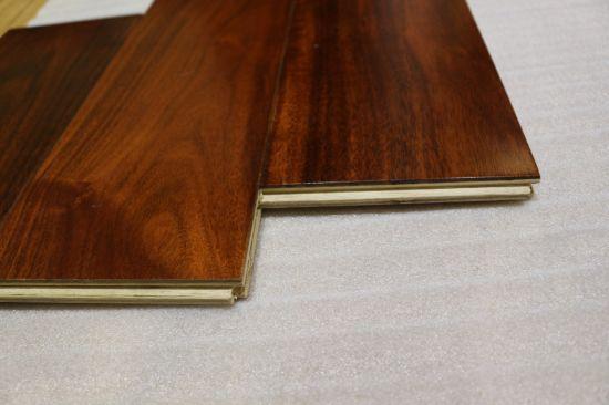 China 125x15mm Acacia Dark Mahogany Color Engineered Hardwood