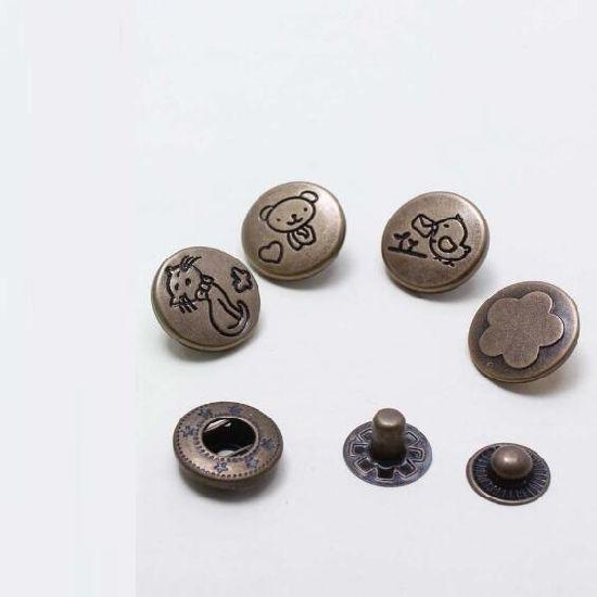 Manufacturer Metal Snap Button for Garment Bags Textile