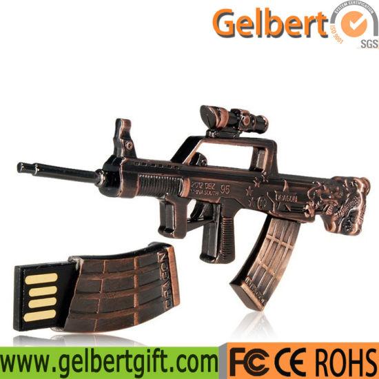Metal Gun USB Flash Drive for Army Fans Supplies