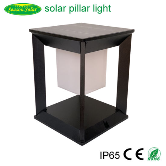 Remote Control LED Lighting Garden Main Gate Pillar Light Outdoor Solar Lighting Lamp with LED Lamp