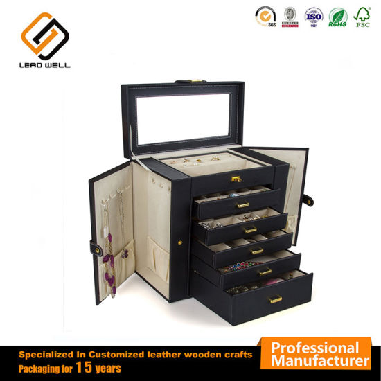21ac61a11 Gift Box Hand-Lined Designed Packaging Box Leather Jewelry Box pictures &  photos