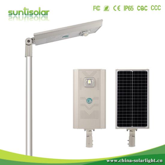 2020 New Product IP66 12V 24V 30W 60W 80W 100W Solar Street Lights with Pole