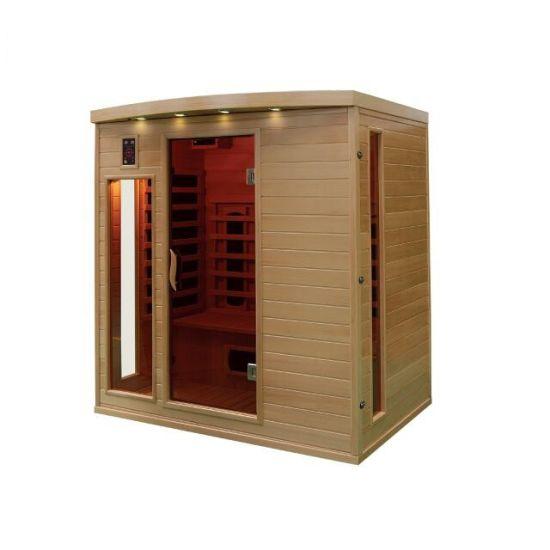 Joda Indoor Far Infrared Sauna Room 4 People Capacity Qd-Cp4 Canada Hemlock Solid Wood