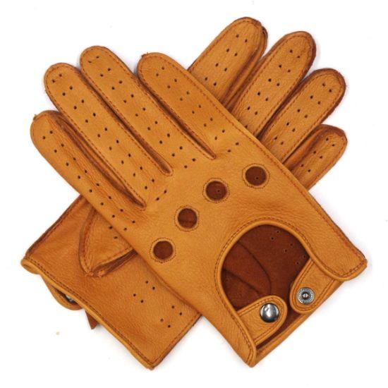 Driving Gloves Beige Tan Deerskin Car Gloves Men/'s Leather Gloves