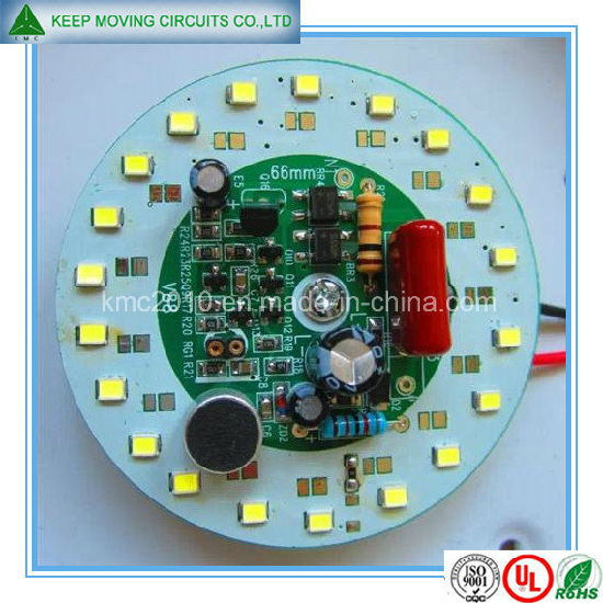 High Quality LED SMT Fabrication White+Green Soldermask pictures & photos