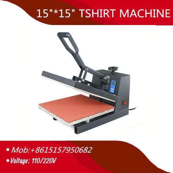 "15""*15 China Wholesale Sublimation Digital Manual Flat Heat Transfer Press Printing Machine"