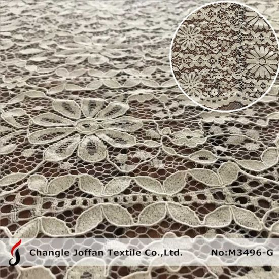 Dress Fabric Embroidery Lace Fabric Textile Cotton Fabric Lace (M3496-G)
