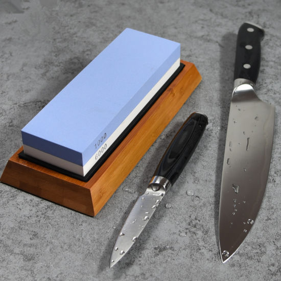 China Double Sided Knife Sharpening Stone With Silicone Base Oil