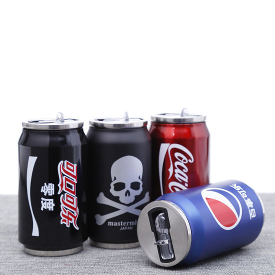 Water Bottle Creative Drink Tin Can Insulated Cup Vacuum Cola Cans Stainless Steel Thermal Sport Travel Mug 350ml