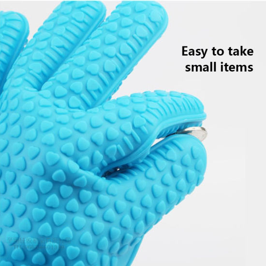 Food-Grade Home Cooking Non-Slip Baking Gloves Kitchen Heat Resistant Silicone Oven Mitts