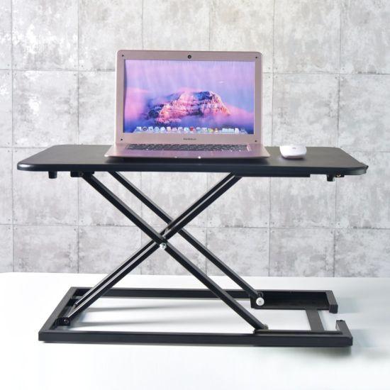Height Adjustable Sit Stand Desktop Riser Portable Laptop Desktop Workstation Table