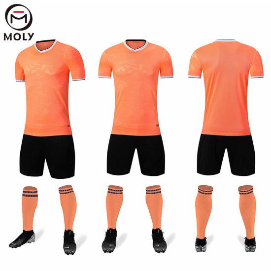 [Hot Item] New Design Orange Football Team Wears Soccer Jerseys Kit Custom Design Order Suppported