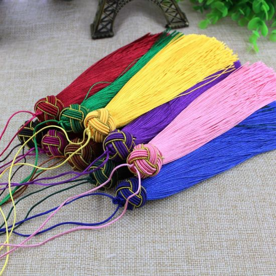 China Custom Decorative Polyester Keychain Tassel For Diy Craft