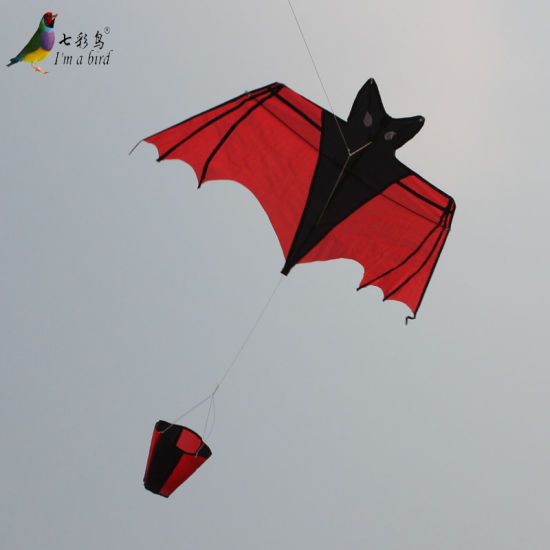 Little Bat Kite Black Single Line Kite will fly as windsock