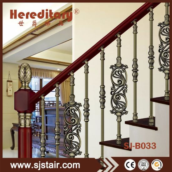 Prefab Metal Stair Railing/Wholesale Balustrade For Duplex House Railing