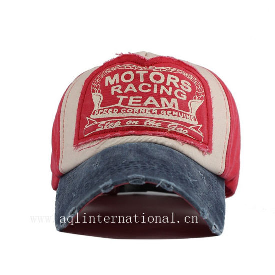5d799a2d385a3 OEM Custom Applique Embroidery Washed Baseball Cap Vintage Distressed  Baseball Cap