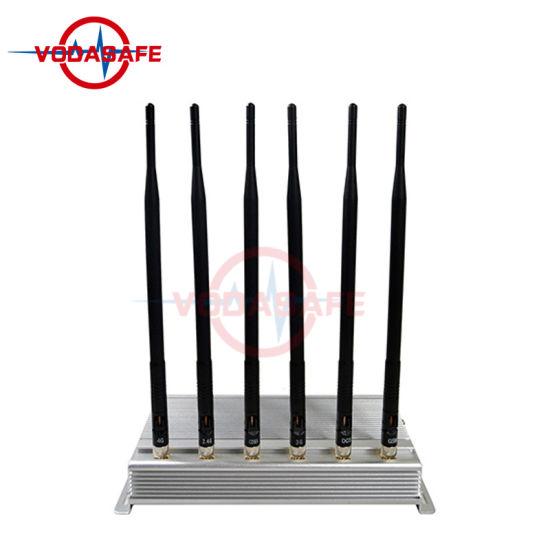 Wi-Fi/Bluetooth 4G3g2g Mobile Phone Signal Scrambler with Six Antennas Signal Blocking