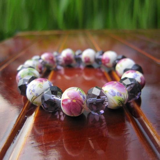 Promotion Gift Travel Present Jewelry Ceramics Crystal Bead Bracelet