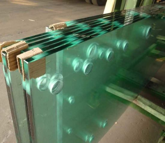 10mm Clear Tempered/Toughened Glass with Holes