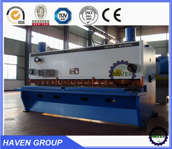 QC11Y-16*3200 Hydraulic Guillotine Shearing Machine with CE standard pictures & photos