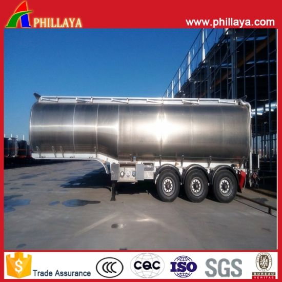 Light Weight Tank Transport Semi Trailer Fuel Aluminum Tanker pictures & photos
