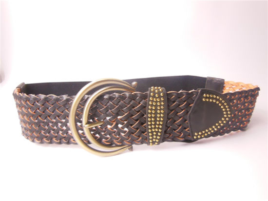 Latest Fashion PU Elastic Weave Belt (JBsj-03)
