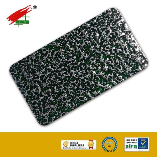 Powder Coating with Green-Silver Texture (EP-06104) pictures & photos