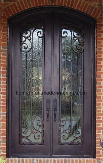 China 2018 Wholesale Exterior Fancy Wrought Main Iron Door Grill for ...