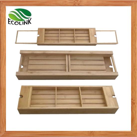 China Adjustable Bamboo Bathtub Caddy Tray - China Bathtub Caddy ...