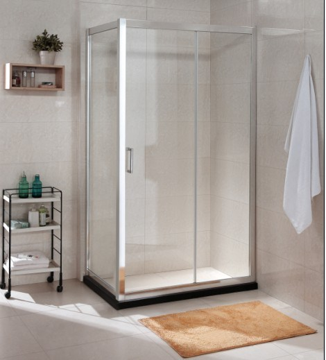 China Manufacture AS/NZS2208 Australian Tempered Glass Simple Shower Room (C17)