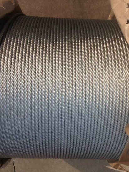 China Nantong Galvanized Steel Wire Rope 6X37+FC/Iwrc Customized ...