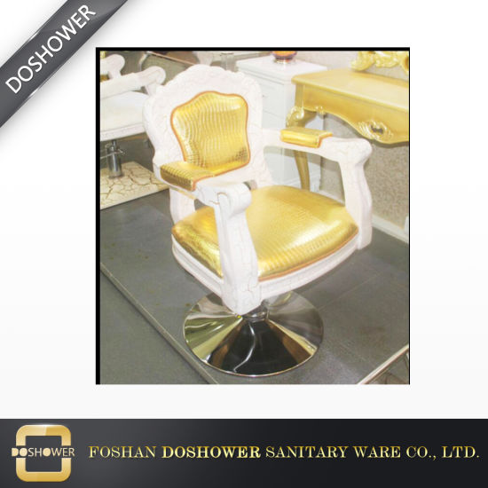 Beauty Hydraulic Gold Wood Styling Chair for Sale