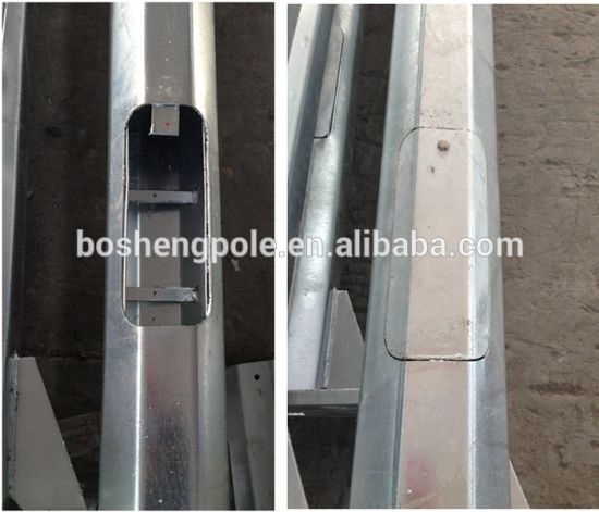 Galvanized Single Arm Street Light Steel Pole pictures & photos