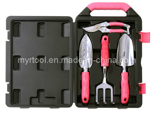 Hot Sale-4 Piece Garden Tool Kit Pink Case (FY1004G) pictures & photos
