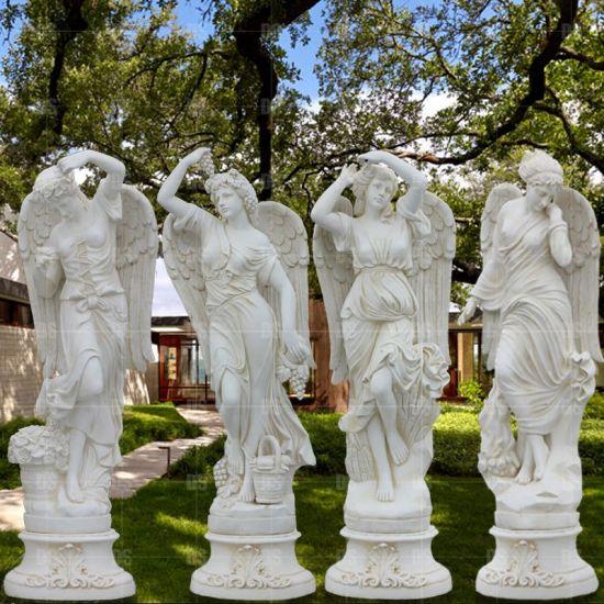 Fiberglass Sculpture Roman Greek Myth Figure Four Season Statue Park and Garden Decoration Outside