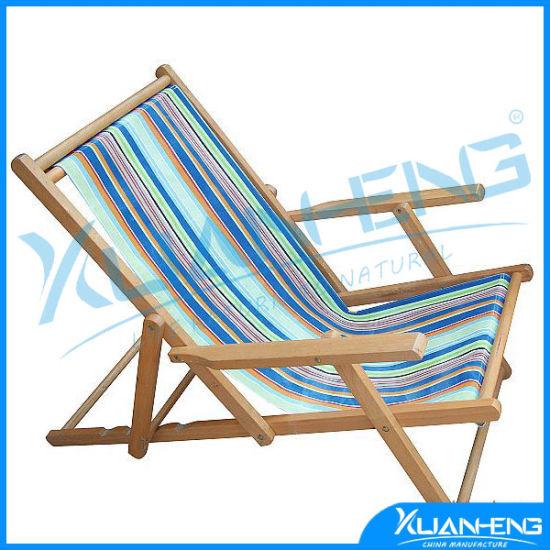 Telescope Casual Cabana Beach Folding Chair Blue White Stripe
