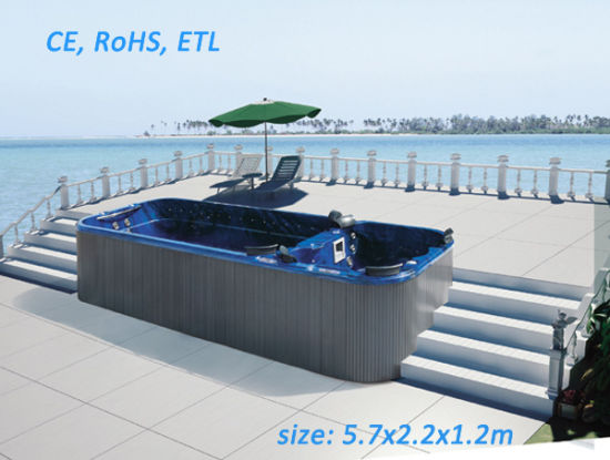 Beautiful Outdoor SPA Swim SPA Tub With CE