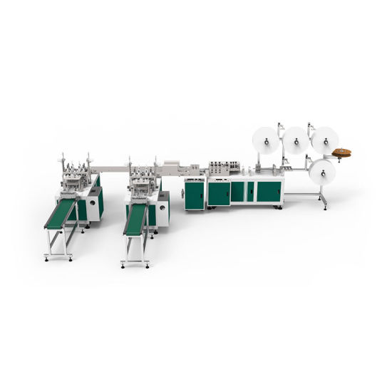 2020 anti-virus Non Woven Full Automatic disposable 3ply 1+2 face Mask Making Machine manufacture price with CE