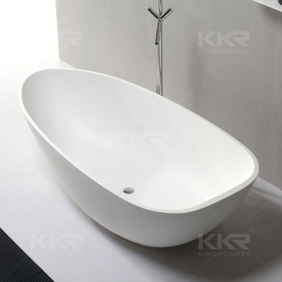 High Modern White Solid Surface Stone Bath Tub Price