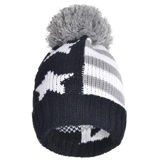 a8eb1e99b24 China Women Winter Knitted Beanies Hat Warm Ski Caps with Yarn POM ...