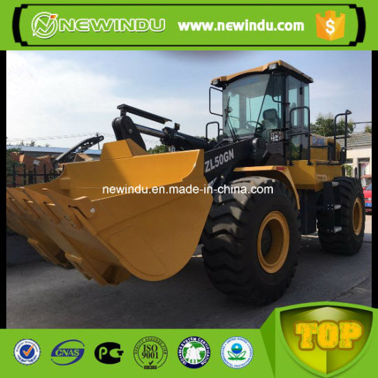 Loader XCMG Wheel Loader Price 5 Ton (ZL50GN) with Rock Bucket
