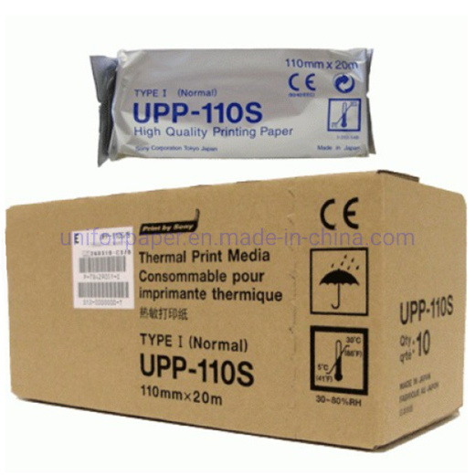 110mm Upp-110s Ultrasound Thermal Paper Roll for Sony Medical Printer