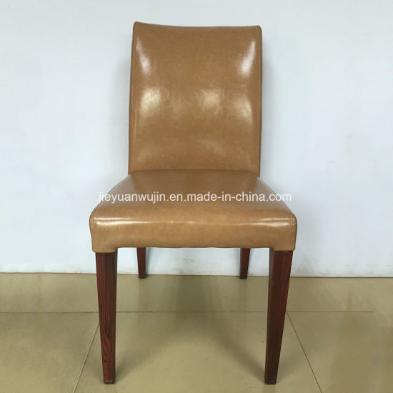Restaurant Furniture Comfortable Leather Metal Dining Chair (JY-R85)