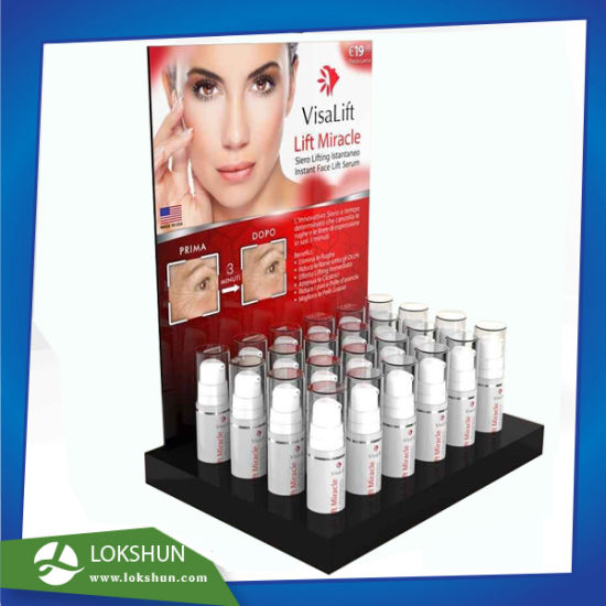 Wholesale L-Stand Acrylic Perfume Display Stand, POS Acrylic Cosmetic Display Counter Display Manufacturer China pictures & photos
