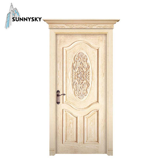 China Whole Entry Solid Wood Front Wooden Door With Stained