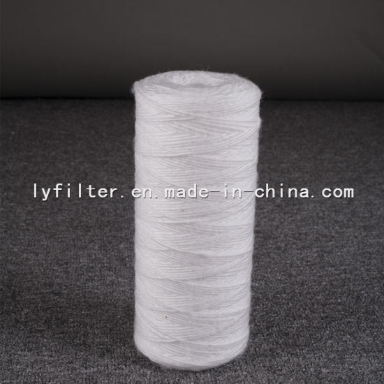 Absorbent Cotton PP Wire Wound Water Filter Cartridge for Industrial Water Treatment Filter